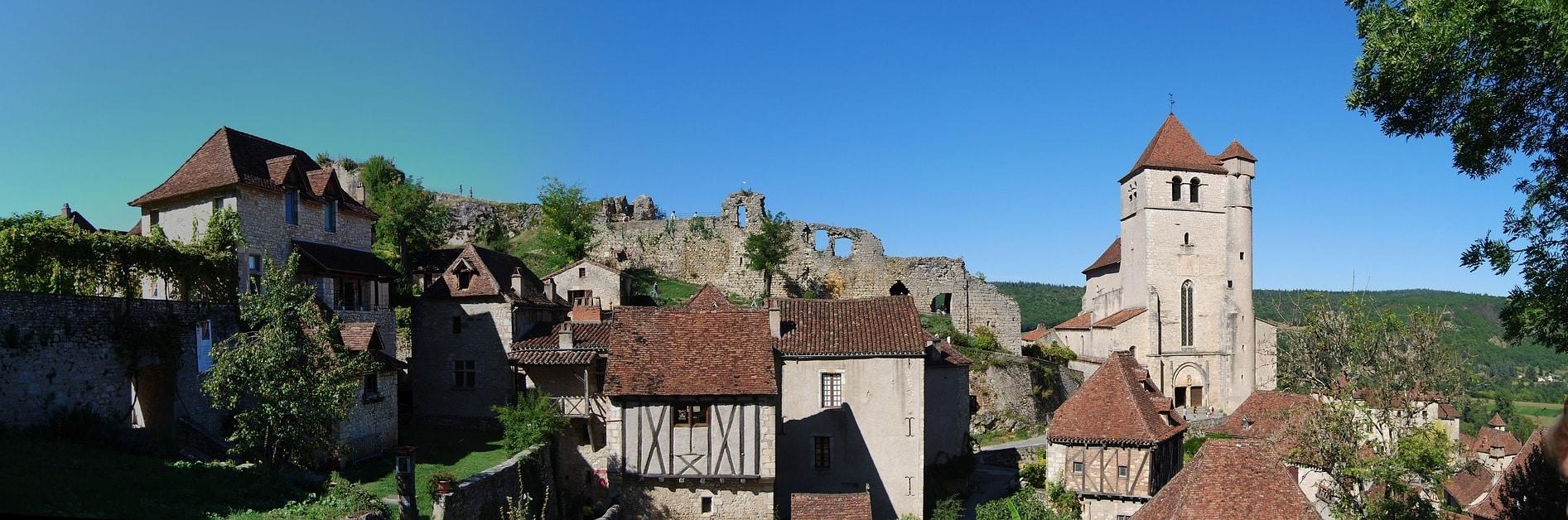 St-Cirq Lapopie panorama view