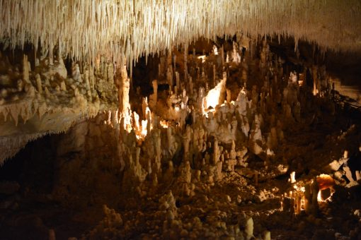 Huge calcite deposits on the ground over 20,000 years old