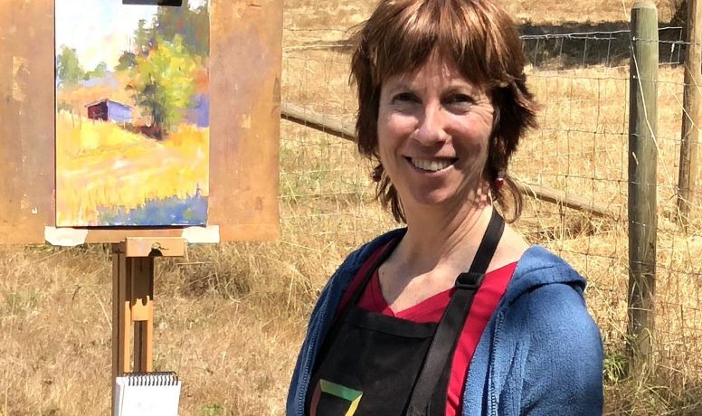 Gail Sibley working en plein air